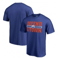 Fanatics Branded Edmonton Oilers fĂŠrfi póló blue Hometown Defend - XL