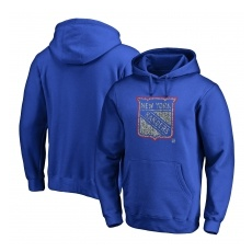 Fanatics Branded New York Rangers fĂŠrfi kapucnis pulóver blue NHL Static Logo - L,(USA)