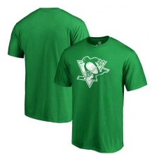 Fanatics Branded Pittsburgh Penguins fĂŠrfi póló green St. Patrick´s Day White Logo - XXL