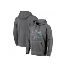 Fanatics Branded San Jose Sharks fĂŠrfi kapucnis pulóver grey Shadow Washed Logo - XXL