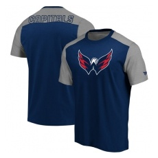 Fanatics Branded Washington Capitals fĂŠrfi póló navy Iconic Blocked - XL
