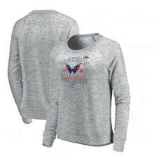 Fanatics Branded Washington Capitals női pulóver grey 2018 Eastern Conference Champions Big Time Play Crewneck - S