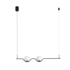 Faro LE VITA 1 ágú függeszték, fekete, 2700K melegfehér, beépített LED, 12W, IP20, 29696 világítás