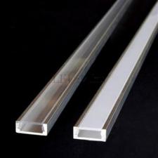 Fedél alu led profilhoz (matt átlátszó -15% fényerő) villanyszerelés