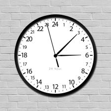 Fehér 24 órás óra falióra