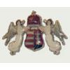 Fehér angyalos címeres jelvény (33x22 mm)