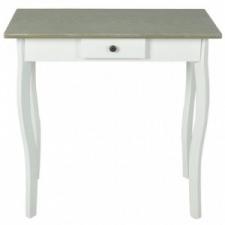Fehér és szürkésbarna MDF tálalóasztal bútor