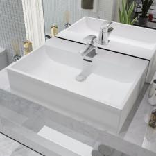 Fehér kerámia mosdó csaptelep furattal 60,5x42,5x14,5 cm csaptelep