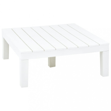 Fehér műanyag kerti asztal 78 x 78 x 31 cm kerti bútor