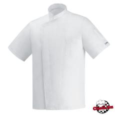 Fehér, rövid ujjú, patentos, ICE COOL szakácskabát