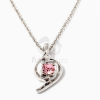 Fehérarany bevonatos nyaklánc köves medállal rózsaszín jwr-1244