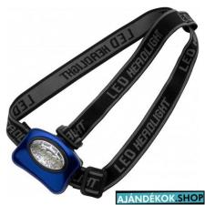 Fejlámpa 5 LED-es, kék elemlámpa
