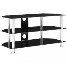 Fekete edzett üveg TV-szekrény 96 x 46 x 50 cm bútor