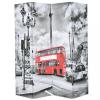 Fekete-fehér londoni busz mintás paraván 160 x 170 cm
