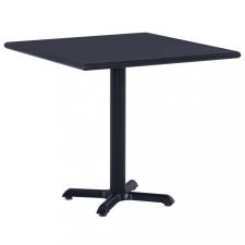 Fekete kerti asztal 80 x 80 x 75 cm kerti bútor