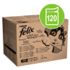 FELIX 120 x 100 g Felix Fantastic jumbo-pack nedves tasakos macskatáp - marha, csirke, tőkehal & tonhal