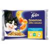 FELIX Sensations halas macskaeledel válogatás aszpikban 4 x 100 g