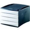 FELLOWES 4 fiókos irattároló, műanyag, FELLOWES Green2Desk, fehér (IFW00191)
