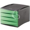 """FELLOWES 4 fiókos irattároló, műanyag, FELLOWES """"Green2Desk"""", zöld"""