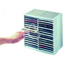 """FELLOWES CD-tároló, automata kiemelőrendszerű, 30+18 db-os, FELLOWES """"Spring"""", platinaszürke filctoll, marker"""