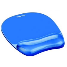 """FELLOWES Egéralátét csuklótámasszal, géltöltésű,  """"Crystal™ Gel"""", kék asztali számítógép kellék"""