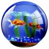 """FELLOWES Egéralátét, kör alakú, FELLOWES """"Brite™"""", akvárium"""