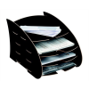 "FELLOWES Irattálca, karton, 4 részes, FELLOWES ""Earth Series™"", fekete"