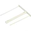 FELLOWES Lefűző klipp, műanyag, fehér, 85 mm, FELLOWES (100db)