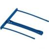 FELLOWES Lefűző klipp, műanyag, kék, 100 mm, FELLOWES (50db)