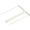 FELLOWES Lefűzőklip, műanyag, fehér, 100 mm, FELLOWES
