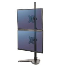"""FELLOWES Monitortartó állvány, két monitorhoz, FELLOWES, """"Professional Series™ Dual Stacking"""", fekete monitor kellék"""