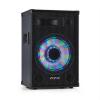 "Fenton TL12LED, 3-utas passzív hangfal, RGB-LED, 12"" woofer 600W, tweeter, horn"