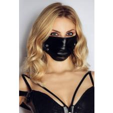 Fényes maszk szegecsekkel (fekete) body
