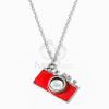 Fényképezőgép medálos nyaklánc piros jwr-1188