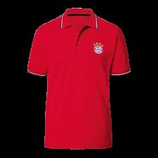 Férfi galléros póló FC Bayern München - Classic, piros futball felszerelés