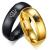 Férfi jegygyűrű, karikagyűrű, koronás, rozsdamentes acél, fekete, 10-es méret