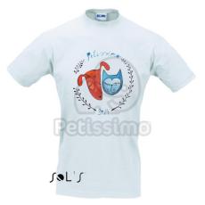 Férfi Petissimo póló fehér színben XL-es méret