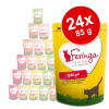 Feringa 24x85g Feringa tasakos multipack nedves macskatáp - Lazac, pulyka & cukkini