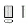 """"""""""" """"Fiat Doblo 2001.01.01-2005.09.30 Fűtőradiátor (Marelli rendszerű )"""""""