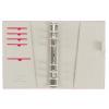 FILOFAX Kalendárium, gyűrűs, betétlapokkal, personal méret, FILOFAX, Domino, piros