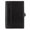 FILOFAX Kalendárium, gyűrűs, betétlapokkal, personal méret, FILOFAX, Holborn, fekete (NFX025116)