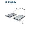 Filtron K1160-2x Filtron pollenszűrő
