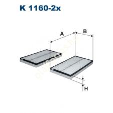 Filtron K1160-2x Filtron pollenszűrő pollenszűrő