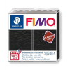 "FIMO Gyurma, 57 g, égethető,  ""Leather Effect"", fekete"
