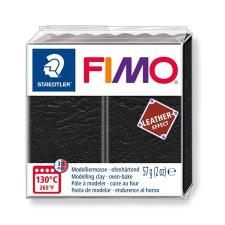 "FIMO Gyurma, 57 g, égethető,  ""Leather Effect"", fekete gyurma"