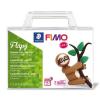 """FIMO Gyurma készlet, 4x25 g, égethető, FIMO """"Soft Creative"""", Flapy Lajhár"""