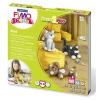 """FIMO Gyurma készlet, 4x42 g, égethető,  """"Kids Form & Play"""", cicák"""