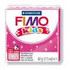 FIMO Kids Gyurma, 42 g, égetheto, glitteres rózsaszín