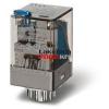 Finder Relé 24VDC 3morze 10A tesztgomb+állapot indikátor