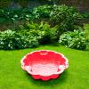 Fiore homokozó, 108x108x23 cm, piros